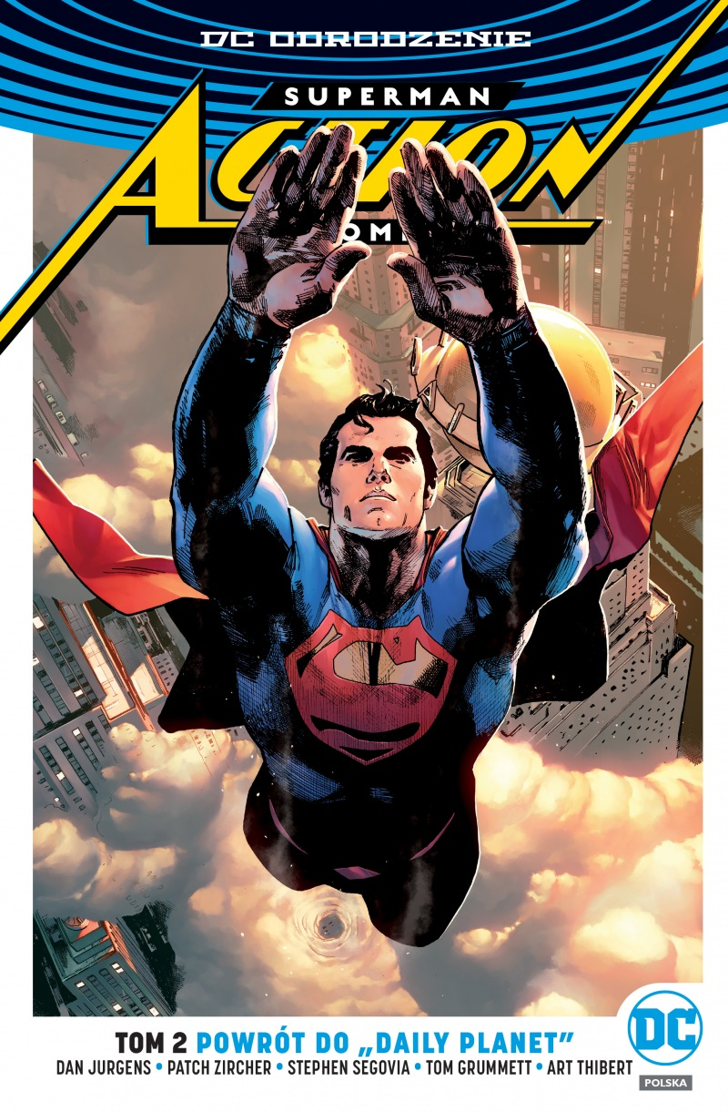 "Okładka komiksu Superman - Action Comics tom 2 - Powrót do ""Daily Planet"""